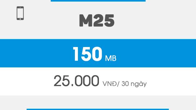 Gói M25 vinaphone