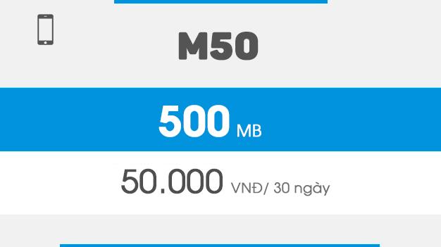 đăng ký gói M50 Vinaphone