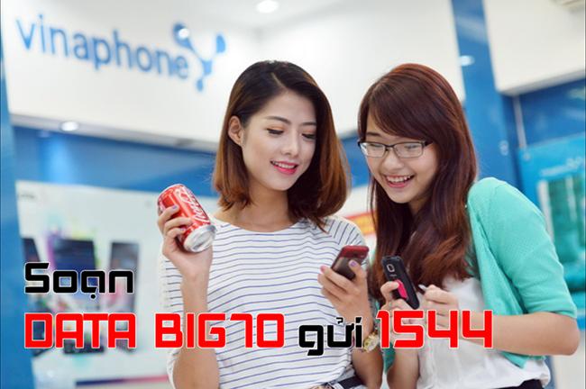 Đăng ký gói BIG70 VinaPhone nhận data GẤP 3 LẦN lên đến 4.8GB