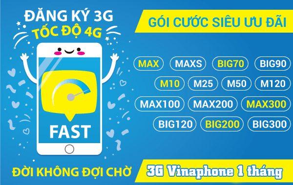 Cách đăng ký gói 3G Vinaphone 1 tháng trọn gói giá rẻ 2020