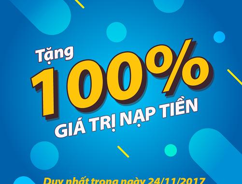 HOT: Hôm nay Mobifone khuyến mãi 100% giá trị thẻ nạp