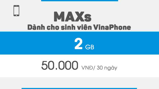 Gói maxs vinaphone dành cho sim sinh viên