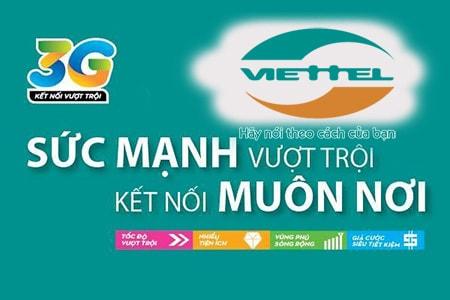 Đăng ký 3G Viettel 1 tháng giá rẻ chỉ từ 10.000đ