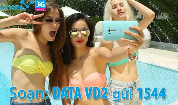 Đăng ký gói VD2 có 20 phút gọi + 500MB DATA 1 ngày chỉ 2,000đ