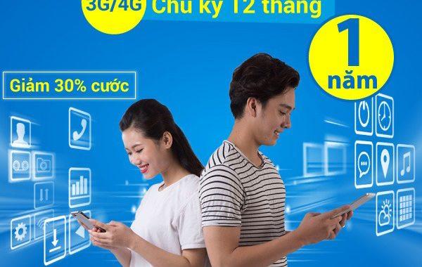 Cách đăng ký gói cước 3G 1 năm của Vinaphone giá rẻ và ưu đãi