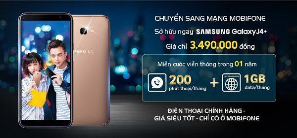 Chuyển mạng giữ số sang Mobifone sở hữu ngay Samsung Galaxy J4