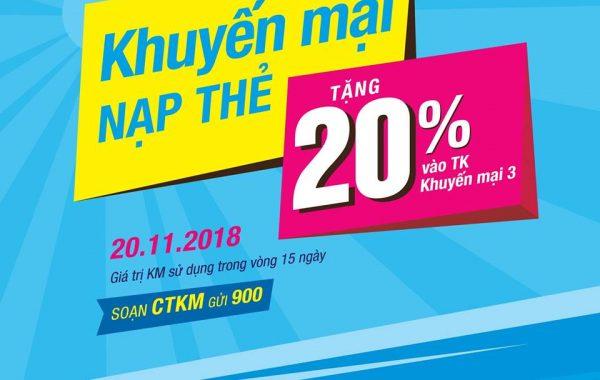 Mừng Ngày nhà giáo Việt Nam Vinaphone khuyến mãi ngày 20/11/2018