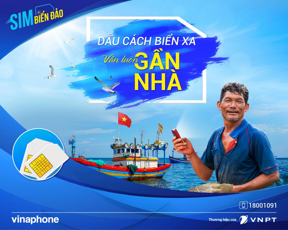 Ưu đãi hấp dẫn dành cho SIM Biển Đảo Vinaphone