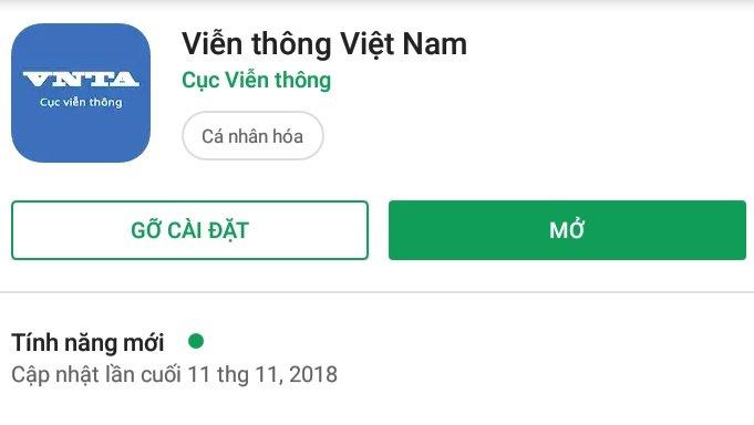 ứng dụng VNTA