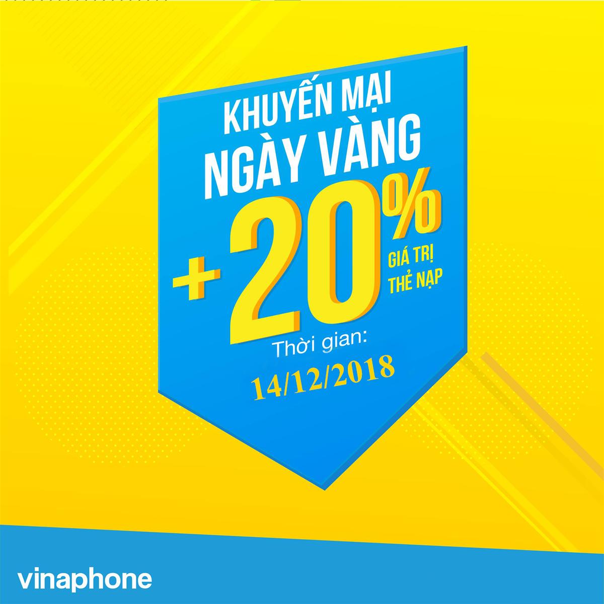 Nội dung chương trình nạp thẻ Vinaphone ngày 14/12/2018