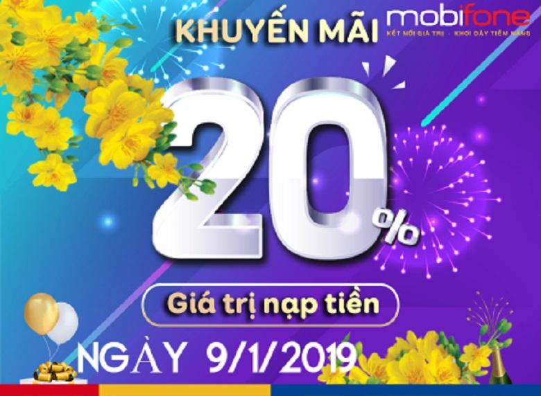 Khuyến mãi ngày vàng MobiFone  toàn quốc ngày 9/1/2019