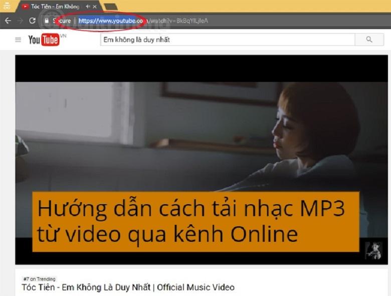 Hướng dẫn cách tải nhạc MP3 từ video qua kênh Online
