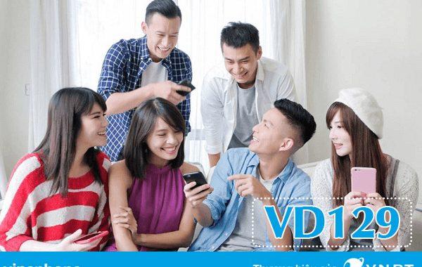 Đăng ký gói VD129 Vinaphone nhận 90GB và gọi thả ga chỉ 129K