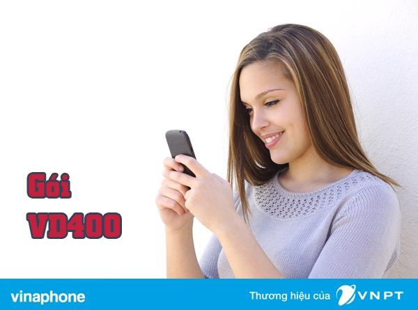 Đăng ký gói cước VD400 của Vinaphone gọi thả ga và 18GB Data