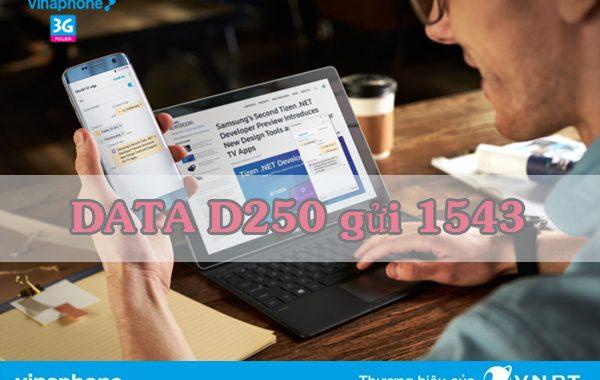 Đăng ký gói D250 Vinaphone vào mạng thả ga 6 tháng với 24GB DATA