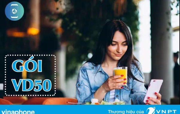 Đăng ký gói VD50 Vinaphone ưu đãi 14GB và nghe gọi miễn phí trong 7 ngày
