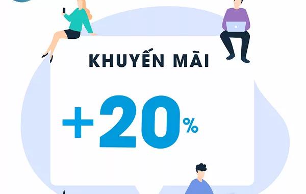 Vinaphone khuyến mãi 20% nạp thẻ ngày 03/05/2019