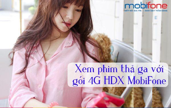 Đăng ký gói HDX Mobifone nhận 3GB DATA và xem phim thả ga