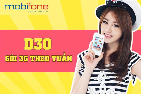 Đăng ký gói D30 Mobifone theo tuần chỉ 30.000đ có ngay 7GB DATA