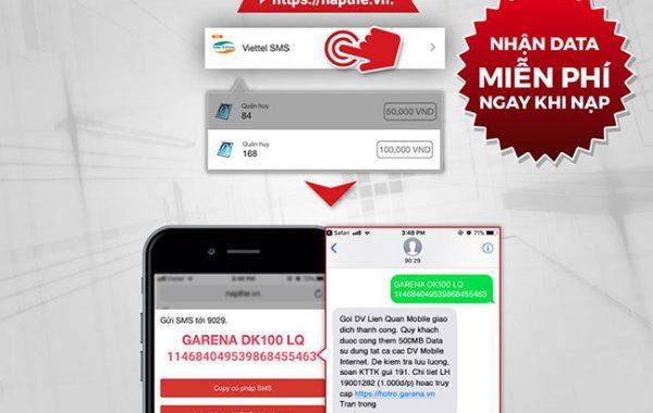 Cách nạp thẻ Liên Quân bằng thẻ Viettel dễ dàng qua tin nhắn SMS