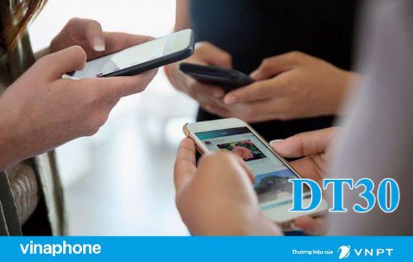 Đăng ký gói DT30 Vinaphone ưu đãi 7GB/7 ngày giá chỉ 30.000đ