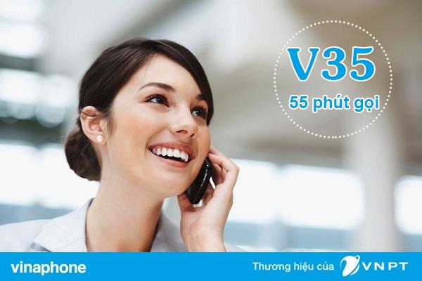 Đăng ký gói V35 Vinaphone nhận 55 phút gọi trong nước chỉ 35K