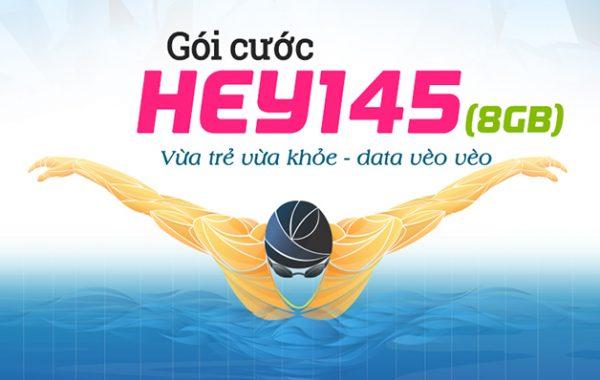 Đăng ký gói HEY145 Vinaphone nhận 8GB và 1570 phút gọi
