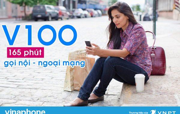 Đăng ký gói V100 Vinaphone nhận ngay 165 phút gọi chỉ 100K