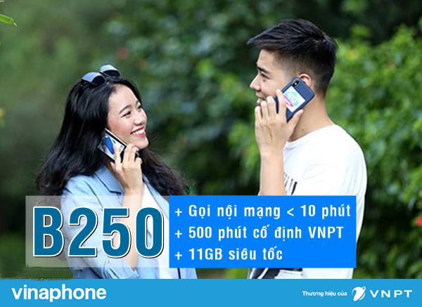Đăng ký gói B250 6T của Vinaphone