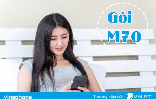 Đăng ký gói M70 Vinaphone nhận 1,5GB và 70K vào tài khoản phụ