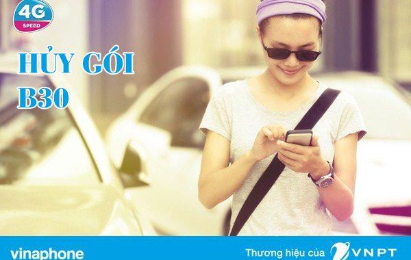 Hướng dẫn hủy gói B30 Vinaphone nhanh gọn qua tin nhắn SMS