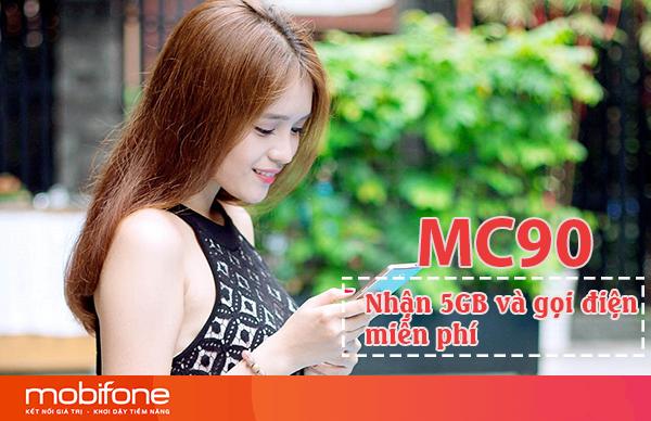 Đăng ký gói MC90 Mobifone miễn phí gọi điện và 5GB DATA