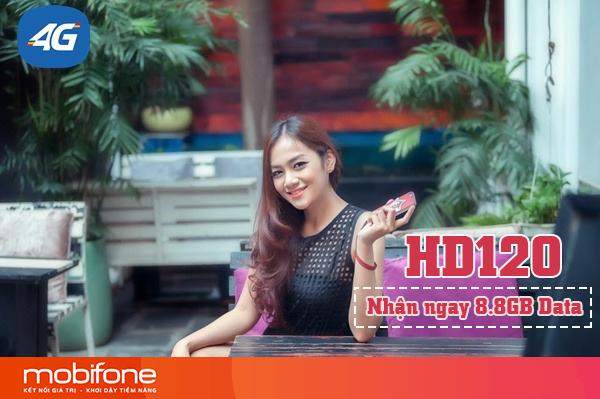 Đăng ký gói HD120 Mobifone có ngay 8,8GB DATA dùng 30 ngày