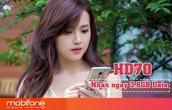 Đăng ký gói HD70 Mobifone nhận 3,8GB DATA chỉ 70.000đ