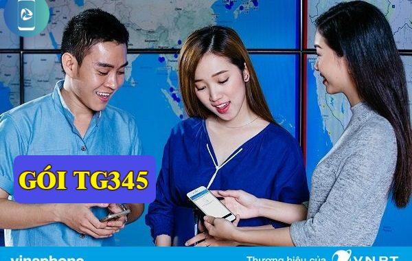 Đăng ký gói TG345 Vinaphone nhận Combo gọi thoại, Data và SMS