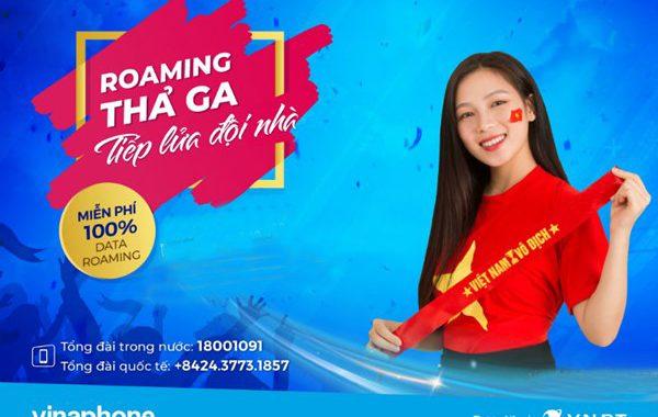 Vinaphone miễn phí hoàn toàn Data Roaming cổ vũ Chung kết Bóng đá nam SEA Games