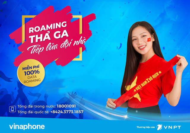 Vinaphone miễn phí hoàn toàn Data Roaming cho thuê bao tới Thái Lan cổ vũ VCK U23