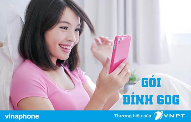 Đăng ký gói D60G Vinaphone nhận 60GB Data cả tháng chỉ 120.000đ