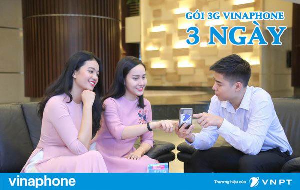 Đăng ký gói 3G Vinaphone 3 ngày 15k nhận ngay 3GB DATA