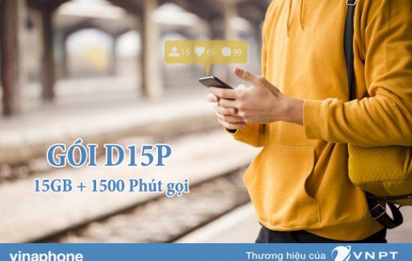Đăng ký gói D15P Vinaphone có ngay 15GB và 1500 phút nội mạng