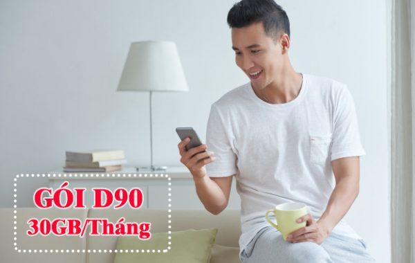 Ưu đãi 30GB khi đăng ký gói D90 Mobifone giá chỉ 90.000đ