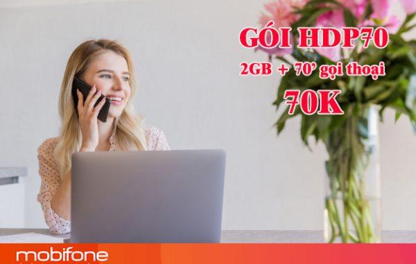 Đăng ký gói HDP70 Mobifone nhận 2GB và 70 phút gọi thoại